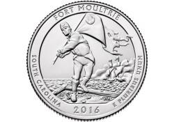 KM ??? U.S.A ¼ Dollar Fort Moultrie 2016 D UNC