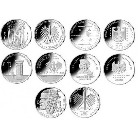 20 euro Duitsland 2016 ADFG&J Unc