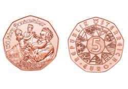 5 Euro Oostenrijk 2017 150 jaar Donauwalzer Unc