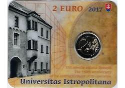 2 Euro Slowakije 2017 Universiteit Istropolitana in Coincard