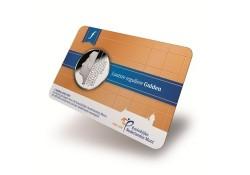 1 gulden FDC 2001 in coincard uitgegeven in 2015