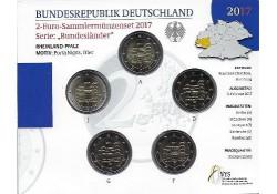 2 Euro Duitsland 2017 ADFG & J Rijnlands Palts Bu