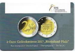 2 Euro Duitsland 2017 A Rijnlands Palts Unc in coincard