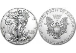 Km 273 U.S.A. Silver Eagle 2017 Unc 1 Ounce