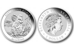 Km ??? Australië 1 Dollar Koala 2017 1 Ounce Zilver Proof