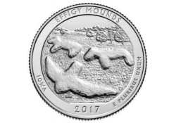 KM ??? U.S.A ¼ Dollar Effigy Mounds 2017 D UNC