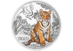 Oostenrijk 2017 3 euro Tijger Unc