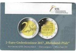 2 Euro Duitsland 2017 D Rijnlands Palts Unc in coincard