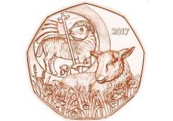 5 Euro Oostenrijk 2017 Paaslammetje Unc Voorverkoop*