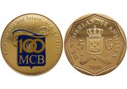 5 Gulden Nederlandse Antillen 2016 MCB Bank Unc