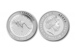 Km ??? Australië 1 Dollar Kangaroe 2017 1 Ounce Zilver Proof
