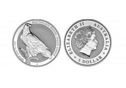 Km ??? Australië 1 Dollar Wigstaart Arend 2017 1 Ounce Zilver Proof