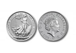 Km ??? Groot Brittanië 2 Pounds 2017 1 Ounce Zilver