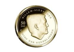 10 Gulden Nederlandse Antillen 2017 Prroof goud Willem Alexander 50 jaar Voorverkoop*