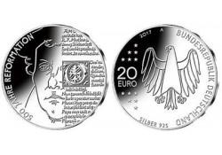 20 Euro Duitsland 2017 A 500 jaar hervormingen Unc