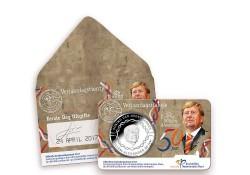 Nederland 2017 10 euro verjaardagstientje in coincard 1e dag uitgifte Voorverkoop*