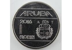 1 Florin Aruba 2016 UNC Met Muntmeesterteken ZONDER ster