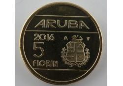 5 Florin Aruba 2015  UNC Met Muntmeesterteken ZONDER ster