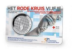 Nederland 2017 5 Euro het Rode Kruis Vijfje Zilver unc in coincard Voorverkoop*