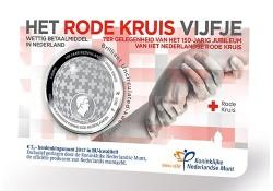Nederland 2017 5 Euro het Rode Kruis Vijfje Zilver BU in coincard Voorverkoop*