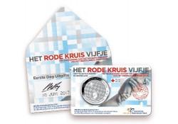 Nederland 2017 5 Euro het Rode Kruis Vijfje Zilver unc in coincard 1e dag uitgifte Voorverkoop*