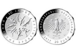 20 Euro Duitsland 2017 D 50 jaar Duitse Sporthulp Voorverkoop*