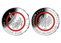 Duitsland 2017 G 5 euro Topische zone  Unc