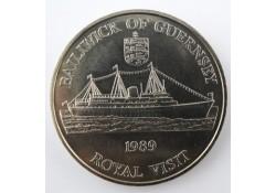 Km 52 Guernsey 1989 2 Pounds Unc Bailwick