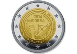2 Euro Andorra 2016 Radio Unc Voorverkoop*