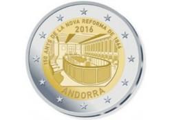 2 Euro Andorra 2016 Hervormingen Unc Voorverkoop*