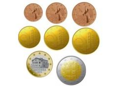Jaarserie Andorra 2016 1 cent t/m 2 euro Unc