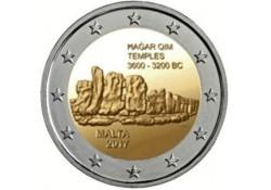 2 Euro Malta 2017 o Tempel Hagar Qim met F in ster.