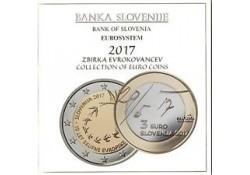 Bu set Slovenië 2017 Met de 2 & 3 euromunt Voorverkoop*