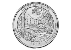 KM ??? U.S.A ¼ Dollar Ozark Riverways 2017 D UNC