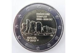 2 Euro Malta 2017  Tempel Hagar Qim Met Frans muntteken Unc