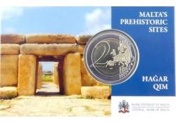 2 Euro Malta 2017  Tempel Hagar Qim Met Frans muntteken in coincard