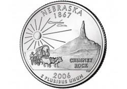 KM 383 U.S.A ¼ Dollar Nebraska 2006 D UNC