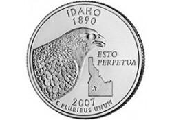KM 398 U.S.A ¼ Dollar Idaho 2007 P UNC