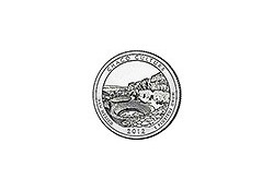 KM ??? U.S.A ¼ Dollar 2012 S Chaco Culture UNC