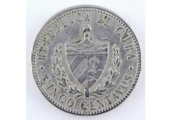 Km 11.1 Cuba 5 Centavos 1920 Zf