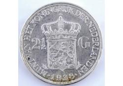2½ Gulden 1938 grof haar Pr