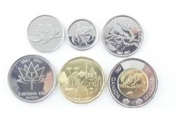 Canada 2017 5-10-25-50 Cents 1 & 2 Dollar Unc 150th anniversary of Federation