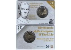 2 Euro Italië 2017 Tito Livio Bu in coincard