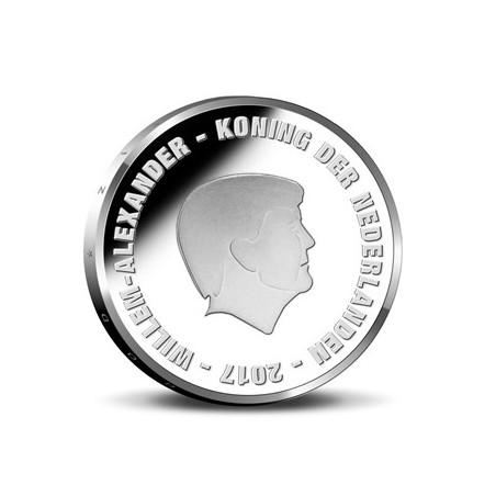 Nederland 2017 5 Euro Het Johan Cruijff vijfje Unc in Coincard 1e dag uitgifte