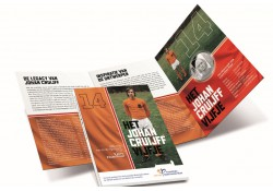 Nederland 2017 5 Euro Het Johan Cruijff vijfje Zilver Proof in Bliter