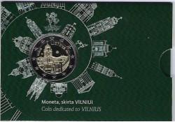 2 Euro Litouwen 2017 Vilnius stad van cultuur en kunst Bu in coincard