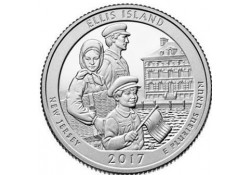 KM ??? U.S.A ¼ Dollar Elllis Island 2017 D UNC