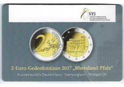 2 Euro Duitsland 2017 D Rijnlands Palts Unc in coincar