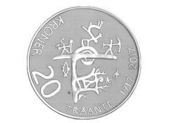 Noorwegen 2017 20 Kroner Unc Traante 1917-2017