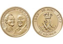Denemarken 2017 20 Kroner Unc Dronningen & Prinsen